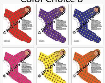 Indian Matryoshka Party Favor Box Printable Color Group B Files