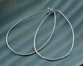 Xthin Textured Sterling Silver Hoops