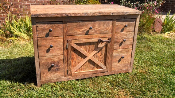 YOUR Custom Made Rustic Barn Wood Vanity Or Cabinet With Doors