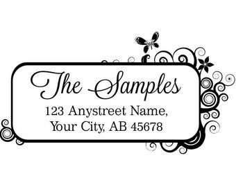 Personalized Self Inking Return Address Stamp - self inking address stamp - Custom Rubber Stamp R162
