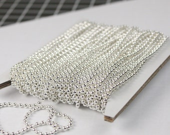 NEW New 32 ft. spool of Sterling Silver finished ball chain - 2.4mm ball size -  ship from CA USA