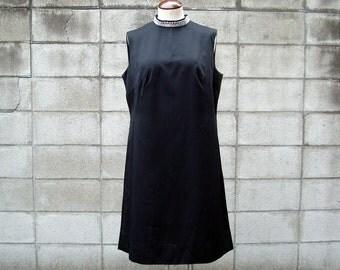 1960s Black Dress Vintage 1960s Mod Mini Aline