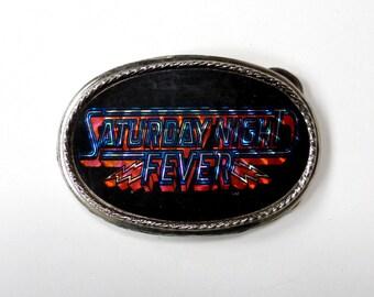 Saturday Night Fever Belt Buckle Vintage 1970s Hologram