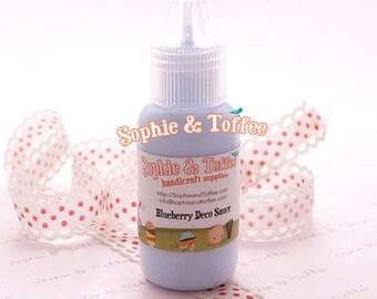 Fake Deco Sauce / Dripping Sauce / Decoden Acrylic Paint 22ml /  Blueberry Deco Sauce