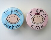 personalized hand painted ceramic first curl boxes