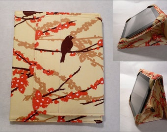 iPad Cover Hardcover Case, iPad Air, iPad 1, 2,3 and 4, Aviary 2 Sparrows Bark