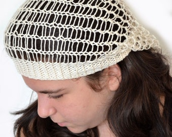 Cream Slouchy Hat For Summer