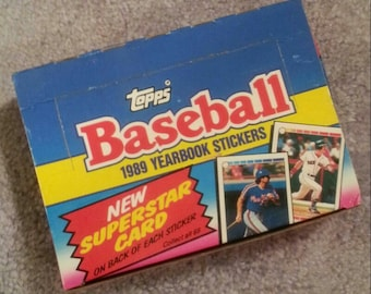 FULL BOX 1989 TOPPS Baseball Collector Stickers 240 random stickers with 48 packs