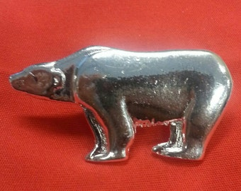 Rare 1960s New York Bronx Zoo POLAR BEAR Pin