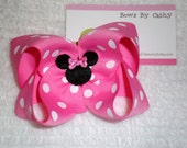 Hot Pink Minnie Mouse Hair Bow