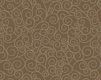 Good Life Swirls in Brown by Deena Rutter for Riley Blake Designs - 1 Yard