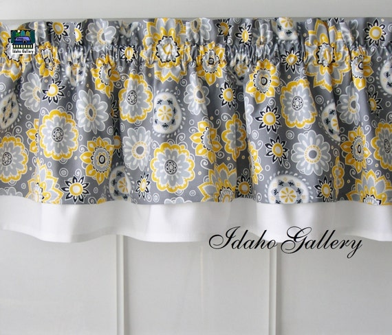 Kitchen Curtains Yellow And Gray: Gray Yellow White And Black Double Layer Little By