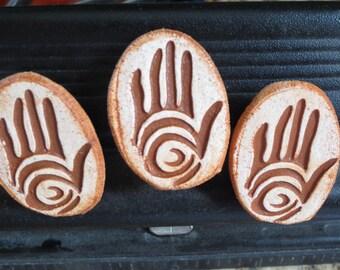 Refrigerator Magnets Rock Art Sinagua Handprint Set of Three