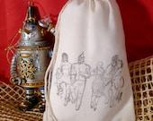 10 Wizard of Oz Party Favor Bags - 4x6 - Environmentally Friendly Muslin Cotton - wedding - Kansas -