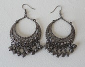 Vintage Dangle Earrings 80's Style
