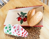 Apple Branch Painted Wooden Tray