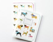 Pocket Notebook, Mini Journal, Jotter - Dogs & Pugs Small Notebooks (set of 2)