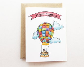 Birthday Card - Hot Air Balloon Multi Birthday