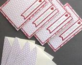 Valentines Day Card Set: 4 Handmade Cards with Matching Embellished Envelopes - Valentine Love