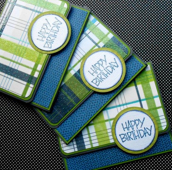 Teen Boy Birthday Gift Card / Money Holder Mad 4 Plaid
