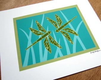 Dragonfly Duo Art print