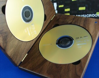 DVDCase,Walnut,DoubleDVDCase,DVD,CD,Wood,Engraved,PersonalizedEngraving