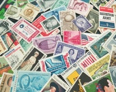 GRAB BAG .. random eclectic mix .. UNused Vintage Postage Stamps .. to post 5 envelopes
