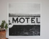 Motel Poster Print - large wall art