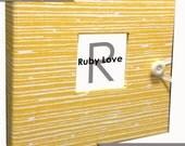 Yellow Woodsy Stripe Album - Baby Memory Book