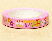 NamiNami Washi Masking Tape - Pink Party - Slim