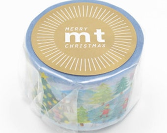 mt Christmas Washi Masking Tape - Snow Scene