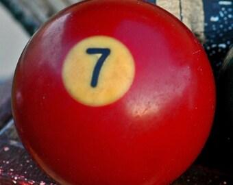 13...  or 7...  or 6...  vintage Bakelite or Lucite billard ball...    c. 1930-1960... T1 L