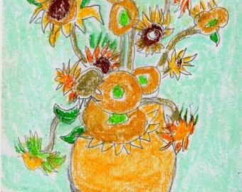 Sunflowers Original Painting