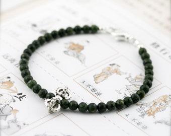 Dorje propitious amulet bracelet (DB) - Russian serpentine