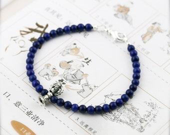 Dorje bell propitious amulet bracelet (DB) - Lapis