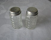 Anchor Hocking Glass Salt and Pepper Shakers U.S.A. Nice Condition