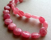 Rhodochrosite smooth coin beads