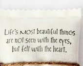 Beautiful Things Lavender Sachet, Inspiring Life Quote Scented Drawer Sachet, Hostess Gift