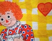 Vintage Raggedy Ann And Raggedy Andy Pillowcase