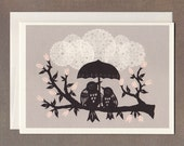 Listen to the Rain - Greeting Card