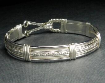 Made In Alaska 925 Sterling Silver Forget Me Not Flower Patterned Bracelet