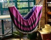 Last one left! Baby hammock, cradle, swing, crib - for babies and children to use indoors or outdoors. Purple Stripes Zaza Classic