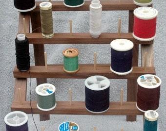Thread and Bobbin holder-Walnut