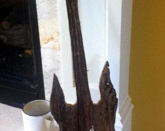Aged Barnwood Guitar with Ironwork /Shabby Chic /  House Decor , Cottage