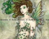 SALE Ivy Fairy 8.5x11  PRINT by Amy Brown