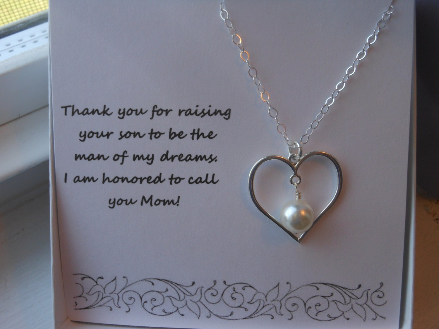 Mother Of The Groom Gift: Mother Of The Groom Gift Gift For Mom Sterling Silver Heart