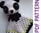 Amigurumi Panda Bear Security Baby Blanket Lovey PDF Crochet Pattern Toy Gift