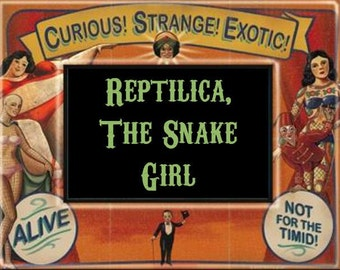 Reptilica, The Snake Girl Perfume Oil - 5ml - Patchouli, vanilla, WHX red musk, pineapple and cinnamon