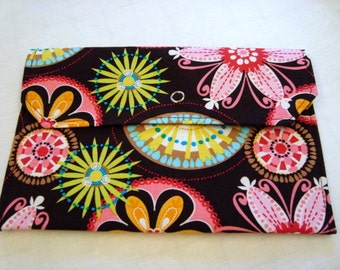 Coupon / Cash Budget Clutch Organizer - Carnival Bloom Floral