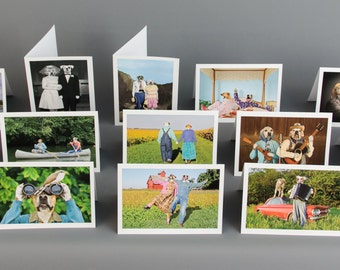 Variety Pack, Pick Any 3 or 5 Favorite Photos for a Custom 5 X 7 Greeting Card Pack with Envelopes